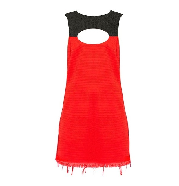 Miiaan red and black cutout dress, £20, 21st September 2015