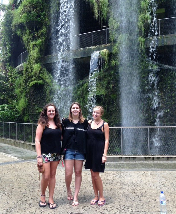 The cloud forest's waterfall in Singapore. 24/9/15