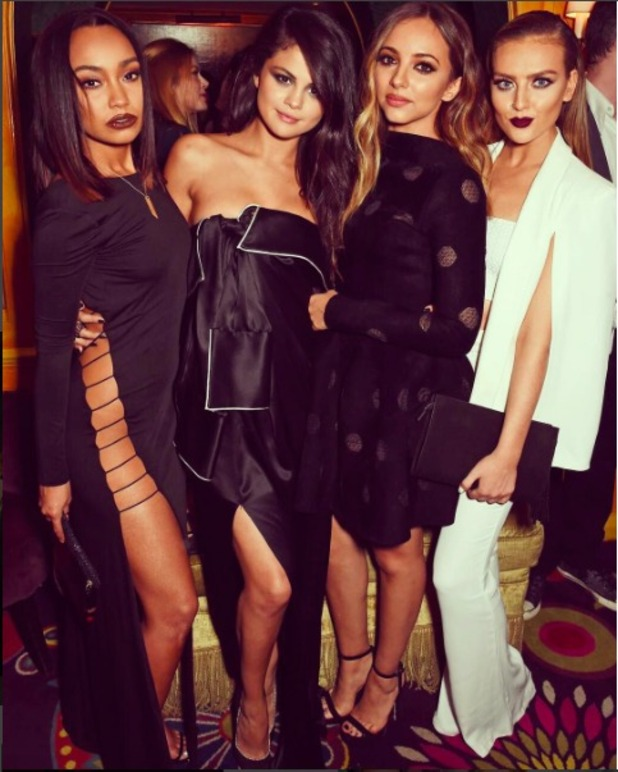 Little Mix's Leigh-Anne Pinnock wears racy dress on night out with Perrie Edwards and Jade Thirlwall, 25 September 2015.