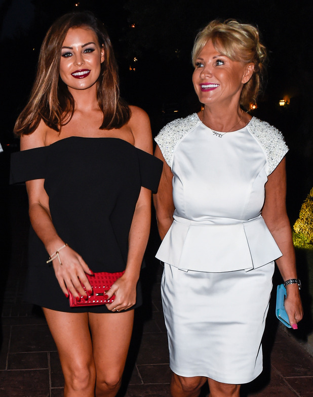Carol Wright celebrated her 55th Birthday in Marbella and TOWIE stars headed to Olivia's La Cala, owned by Elliott Wright for dinner. 21 September 2015.