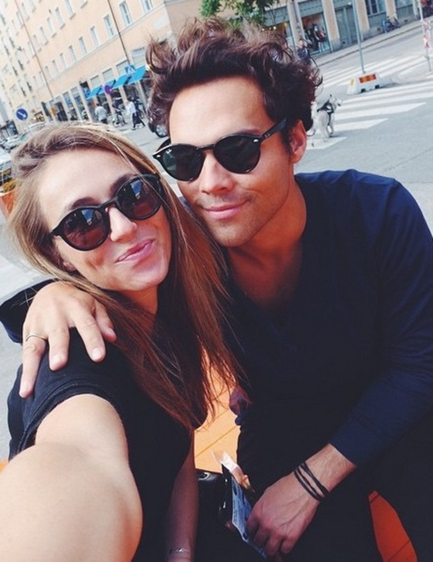 Former Made In Chelsea star Andy Jordan cosies up to new girlfriend Robyn Kotze - September 2015.