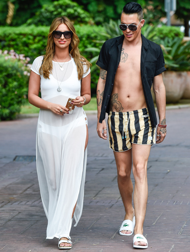 Ferne McCann and Bobby Norris out in Marbella 21 September