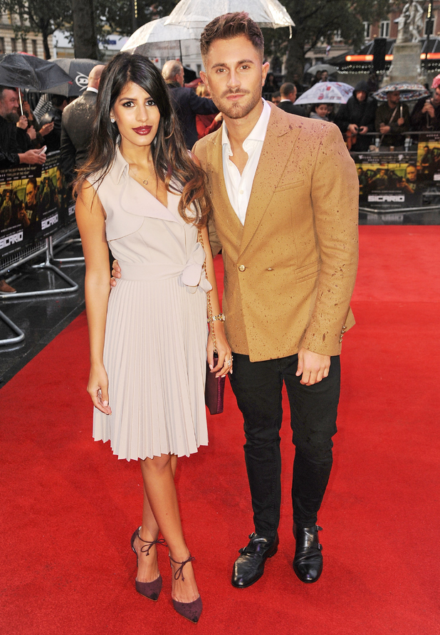 Jasmin Walia and Ross Worswick attends the UK Premiere of 'Sicario' at Empire Leicester Square on September 21, 2015 in London, England.