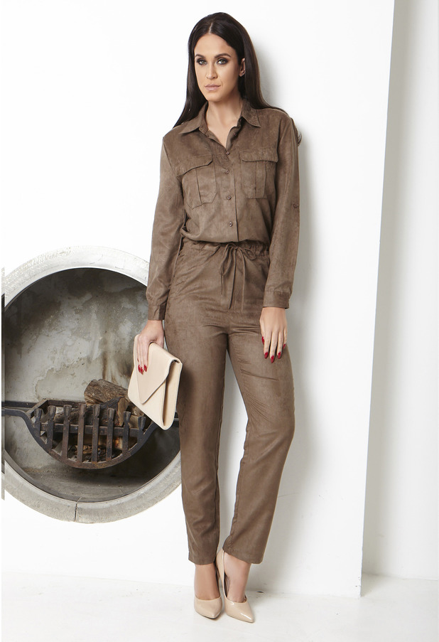 Vicky Pattison Honeyz clothing collection suede jumpsuit, 24th September 2015