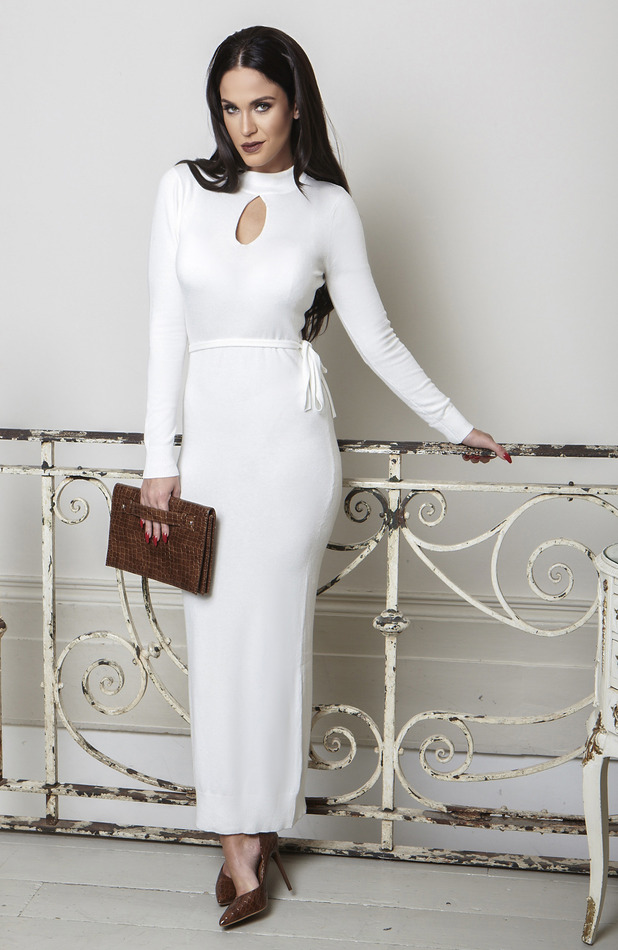 Vicky Pattison Honeyz clothing collection white dress, 24th September 2015