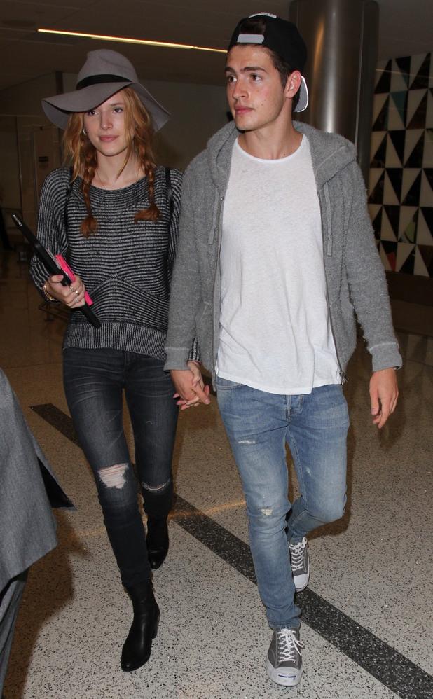 Bella Thorne arrives at Los Angeles International Airport, 29th September 2015