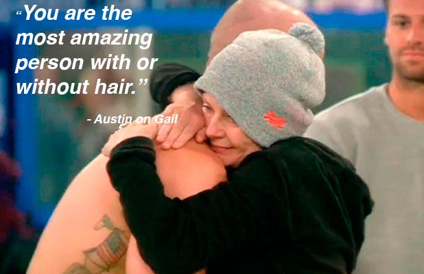 Celebrity Big Brother: UK vs USA' TV show, Elstree Studios, Hertfordshire, Britain - 05 Sep 2015 Gail Porter hugs Austin Armacost