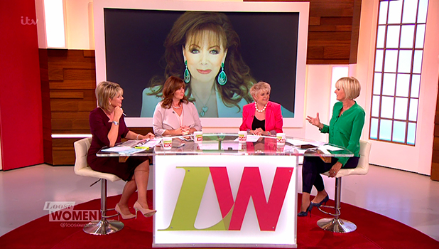 The panellists pay tribute to Jackie Collins on 'Loose Women'. Broadcast on ITV1 HD