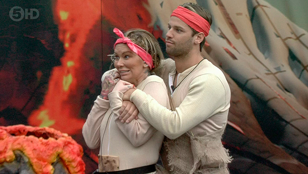 CBB: 'The End Is Nigh' task housemates are told to stand on boulders for as long as they can endure. Jenna and James