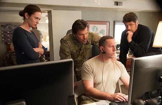 Sicario film still: Emily Blunt, Josh Brolin, Benicio Del Toro