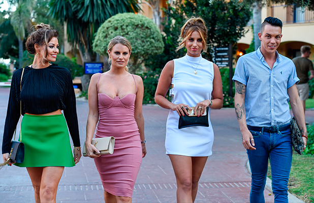 TOWIE stars head out for dinner at Olivias La Cala Marbella