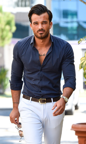 TOWIE's Michael Hassini arrives at Cavalli Club in Marbella - 25 September 2015.