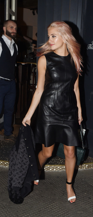 Pixie Lott leaving London's West 36 Restaurant after birthday celebrations, 30th September 2015