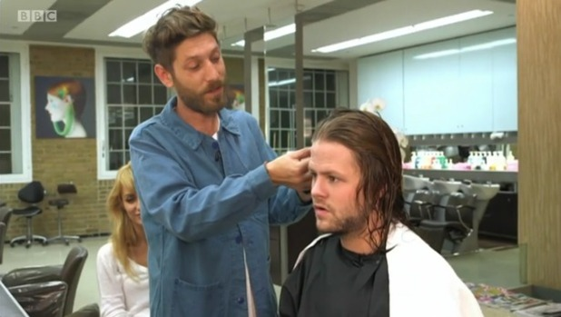 Jay McGuiness gets his hair cut on Strictly Come Dancing 2015 - 03/10/2015