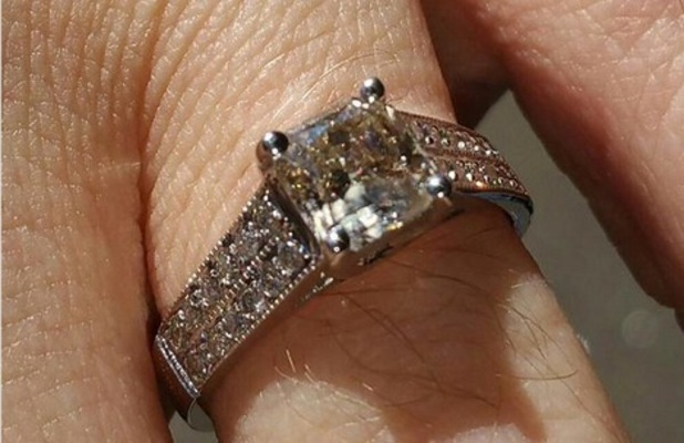 Chris Steed's engagement ring 1 October