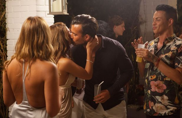 Michael Hassini and Nicole Bass - TOWIE cast at Hide Away Villa, Marbella, Spain - 29 Sep 2015.