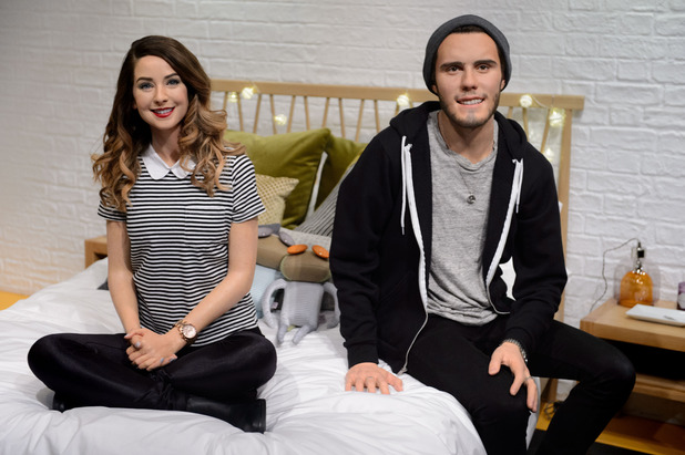 Wax figures of two YouTube 'vlog stars', Zoe Sugg and Alfie Deyes are revealed at Madame Tussauds London, 29th September 2015
