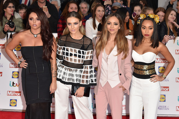 Little Mix at the Pride of Britain Awards on the red carpet, 29th September 2015