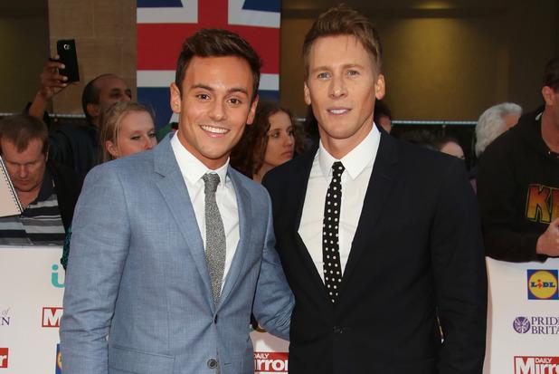 Tom Daley and Dustin Lance Black, Pride Of Britain Awards 28 September