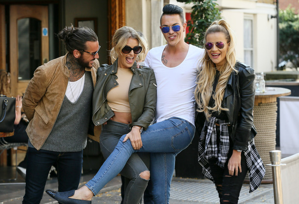 Peter Wicks, Danielle Armstrong, Bobby Norris and Georgia Kousoulou in London 2 October