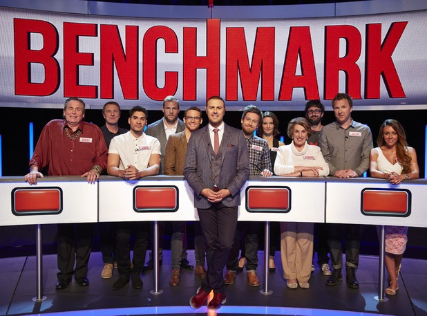 Channel 4 gameshow Benchmark featuring celeb contestant Joe Swash - 3 October 2015.