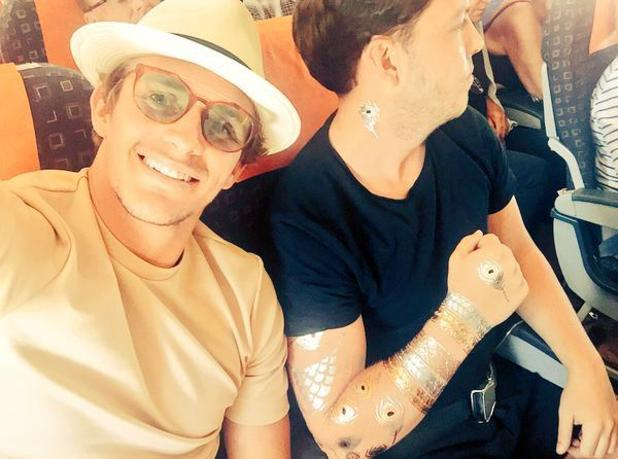 TOWIE: Jake Hall and James Diags' Bennewith leave Marbella and head back to Essex - 26 September 2015.