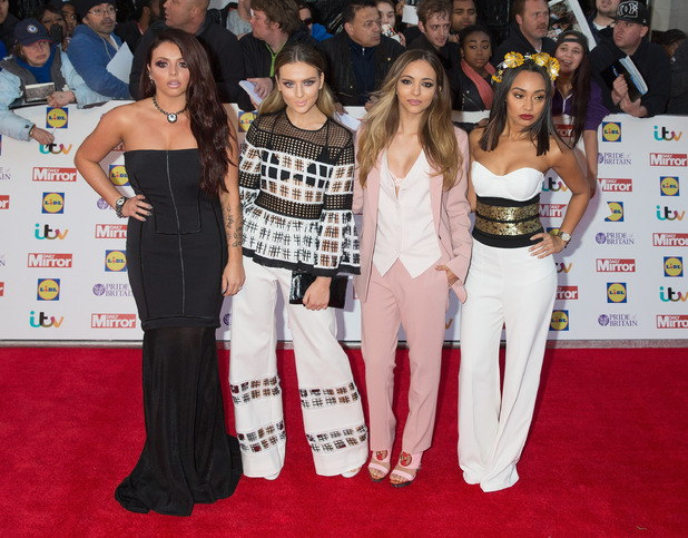 Little Mix at the Pride of Britain Awards, full length red carpet photo, 29th September 2015