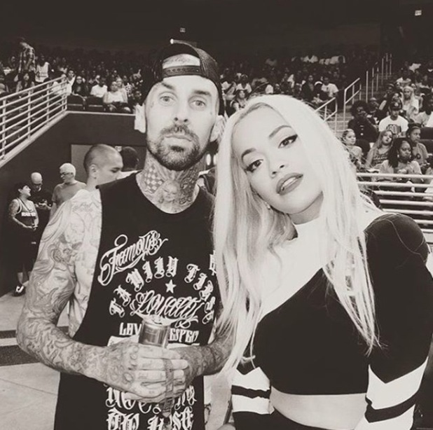 Rita Ora and Travis Barker take a selfie and share to Instagram 2nd October 2015