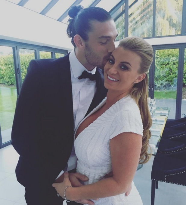 Billi Mucklow and Andy Carroll host dinner party 28 September