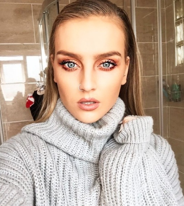 Little Mix's Perrie Edwards shares made up selfie on Instagram 28th September 2015