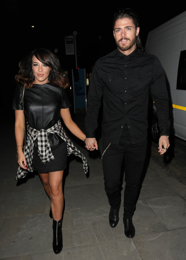 Stephanie Davis and Sam Reece at the Belstaff Store Launch - 1 October 2015.