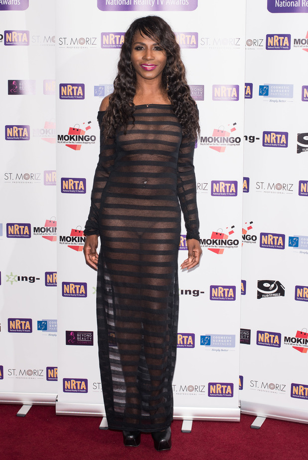 Sinitta at the National Reality TV Awards held at the Porchester Hall - Arrivals. 30 September 2015.