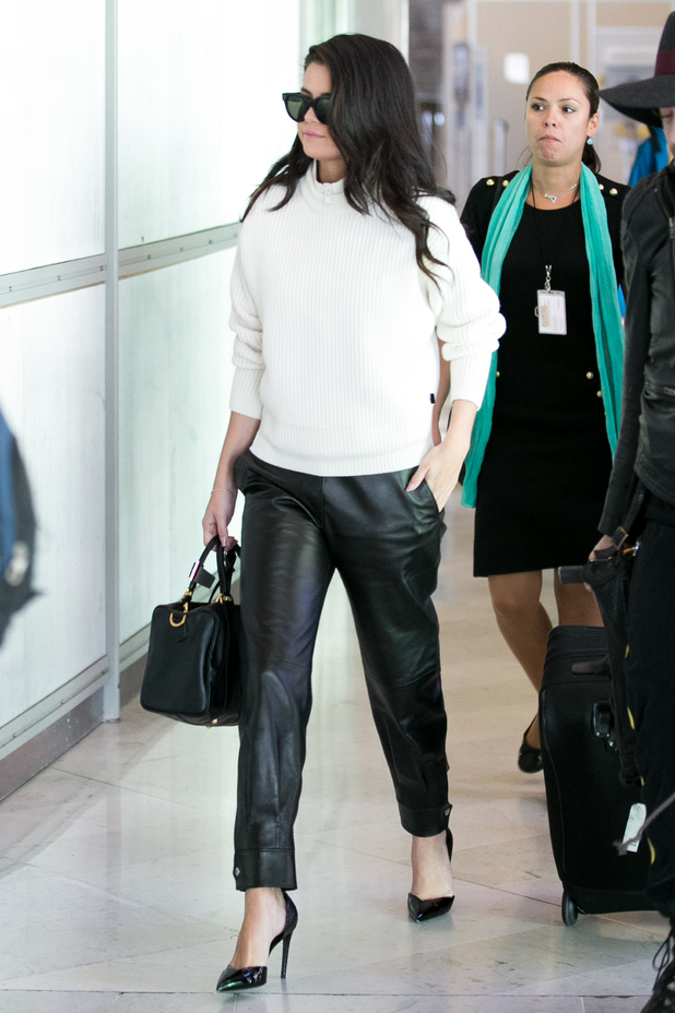 Actress and singer Selena Gomez is spotted at Charles-de-Gaulle airport  in Paris, France on September 29, 2015.