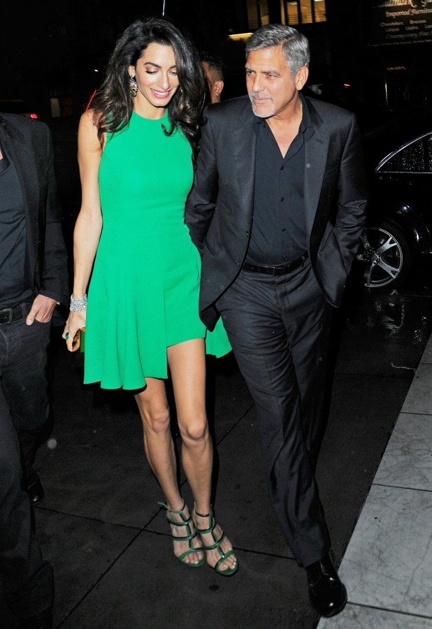 George Clooney and Amal Clooney out and about, New York, America - 29 Sep 2015
