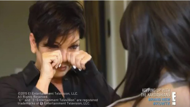 Kris Jenner cries while going through Bruce's old clothes Keeping Up With The Kardashians