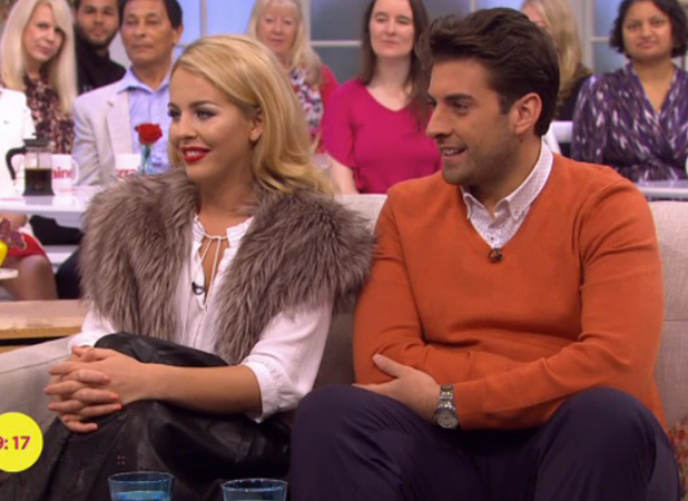 TOWIE's Lydia and Arg appear on ITV's Lorraine 2 Oct 2015