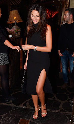 Mark Wright and Michelle Keegan seen leaving Mahiki nightclub in mayfair after enoying a night out with friends.