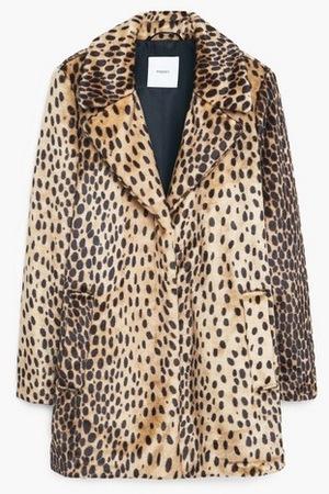 Mango Leopard Faux Fur Coat, £89.99