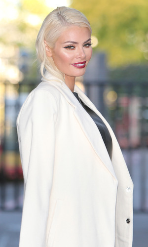 TOWIE's Chloe Sims outside ITV Studios. 9 October 2015.
