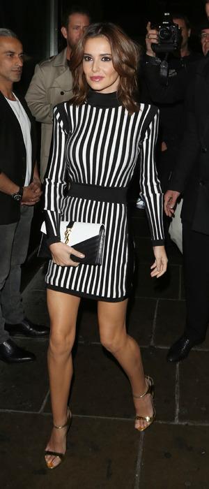 Cheryl Fernandez-Versini at Hotel Chantelle in London for Nicola Roberts' birthday, 4th October 2015