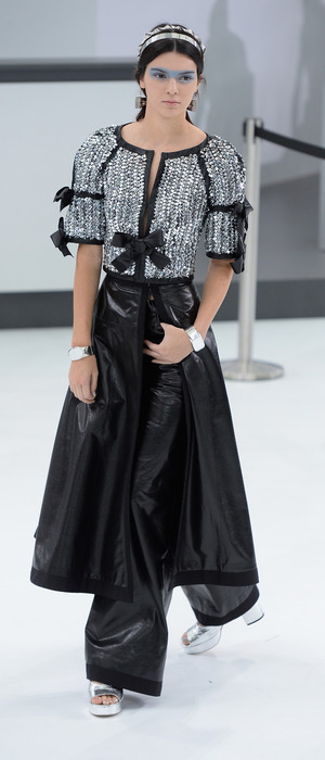 Kendall Jenner modelling for Chanel at PFW, Paris Fashion Week 6th October 2015