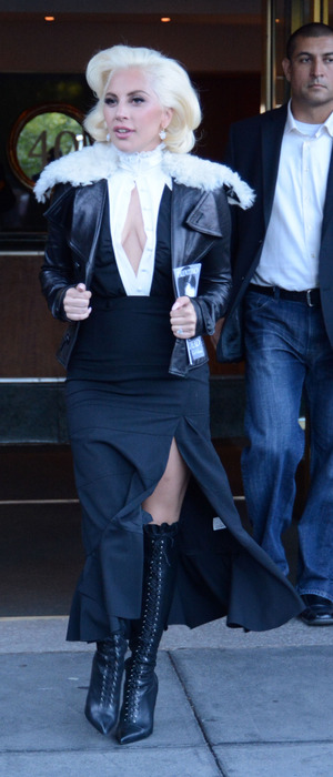 Lady Gaga seen out and about in New York City 8th October 2015
