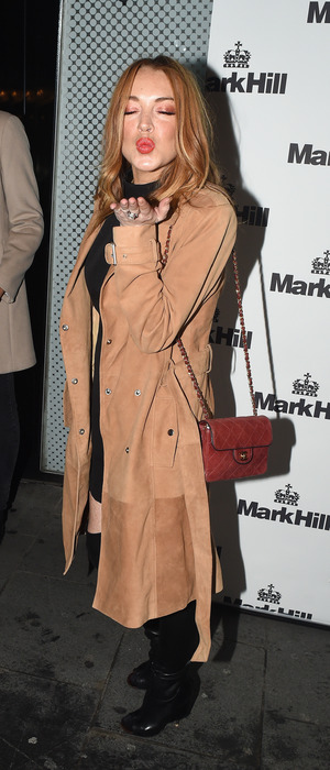 Lindsay Lohan at Mark Hill Hair event in London, 7th October 2015