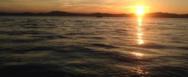 Sunset on the Ayeyarwady River, Bagan, Myanmar. 5/10/15