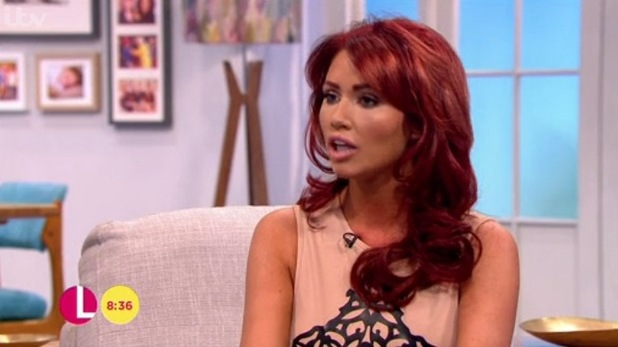 Amy Childs appears on ITV's Lorraine to promote her first book '100% me', 7th October 2015