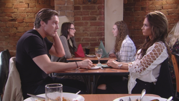 Lewis Bloor and ex-Nicole Bass chat over a drink, 11 October 2015