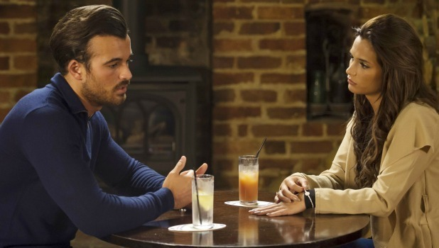 TOWIE new comers Michael Hassini and Nicole Bass discuss Marbella over a drink 7 Oct 2015