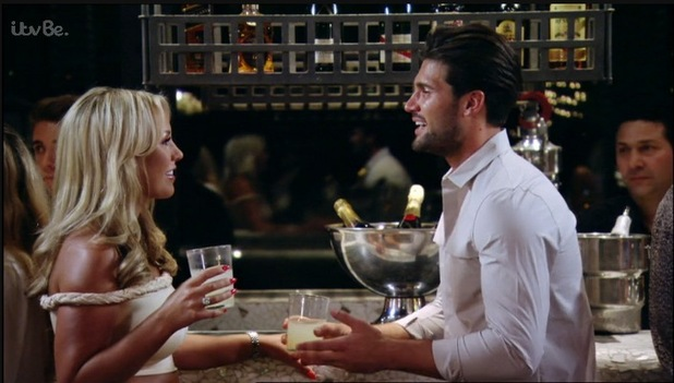 Dan Edgar comes face to face with ex-girlfriend Kate Wright in Marbella - Sunday 4 October 2015.