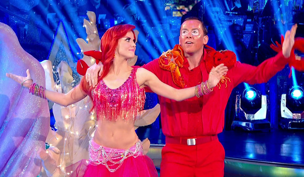 Scott Mills and his dance partner Joanne Clifton performing on Movie week of 'Strictly Come Dancing' - 11 October 2014.