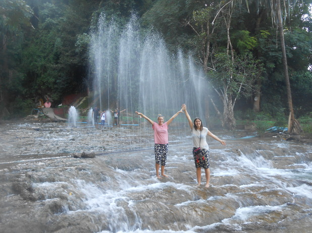 Waterfalls at the Peik Chin Myuang Cave in Pyin Oo Lwin, Myanmar. 5/10/15